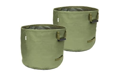 GOOL-Gartenabfallsack 125L-G | Laubsack | Universalsack | Grünschnittsack | extrem robust aus Canvas | 125 Liter | wasserabweisend | hohe Lebensdauer