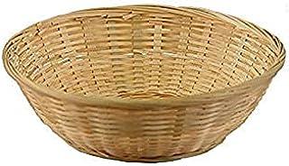 Bamboo Fruit & Vegetable Basket (Brown Inside) (30 cm Diameter) - Multipurpose - Chapati- Paratha - Roti- Hand Crafted Nat...