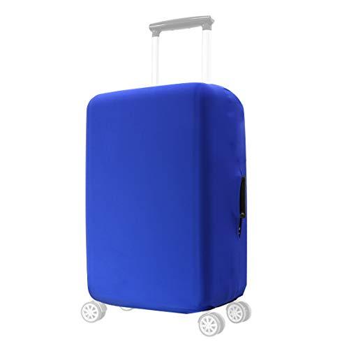 kwmobile Funda Compatible con Maleta en Varios tamaños - Protector con Cierre - Cubierta para Maleta de Viaje en Azul