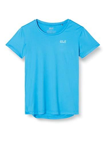 Jack Wolfskin Damen Tech T-Shirt, Brilliant Blue, M