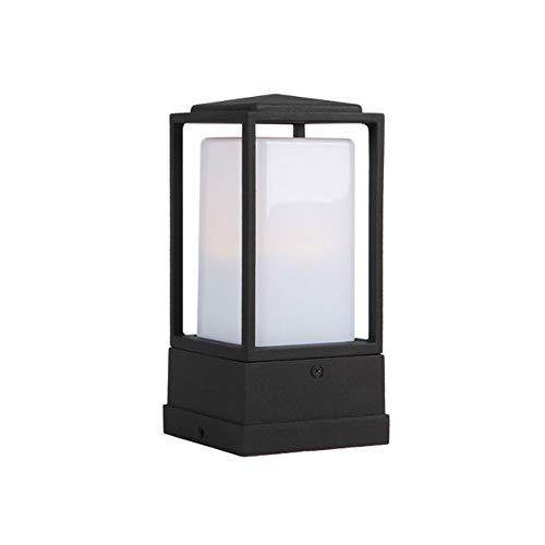 Aaedrag Luces Patio al Aire Libre a Prueba de Lluvia lámpara de Pared pequeña Pared de la Pared de la Pared de la Pared de la lámpara Poste Moderna Moderna Simple Columna esférica de la Columna Faros