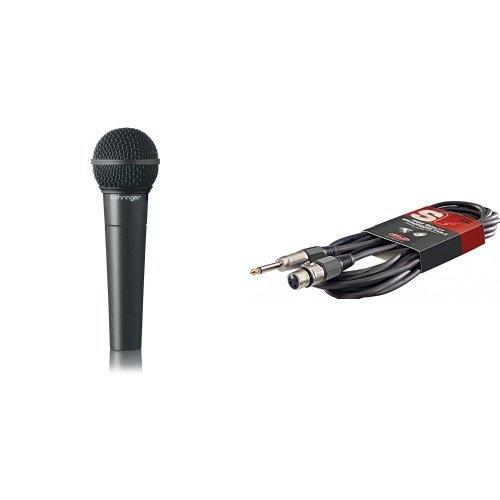 Behringer Ultravoice XM8500 Dynamisches Gesangsmikrofon mit Nierencharakteristik + Microfonkabel, 6m, XLRf-Klinke, schwarz Bundle