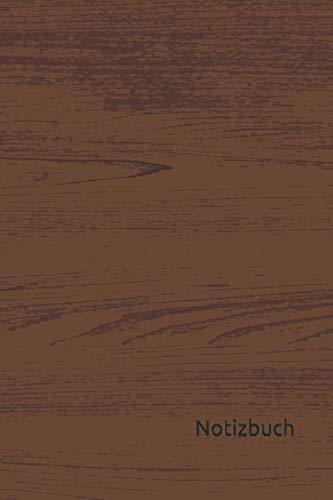 Notizbuch: Holz Notizbuch | 6x9 Zoll DIN A5 | 120 Seiten Punktraster | Hölzer Notizheft |Holzmuster Tagebuch | Schreinerei Notebook