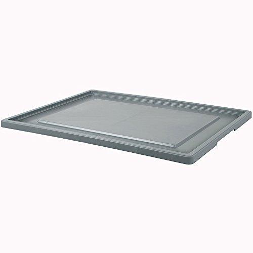 Stülpdeckel für Eurobehälter/Stapelbehälter 800x600 mm, grau