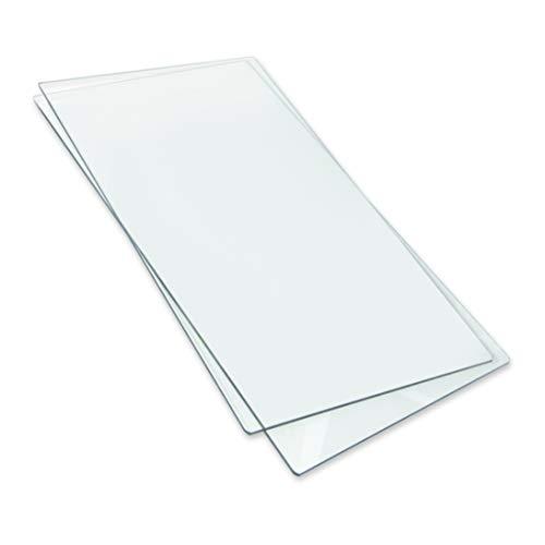 Sizzix Big Shot Plus Accessori Cutting Pads, Standard, 1 Paio, Acciaio Inossidabile, Bianco