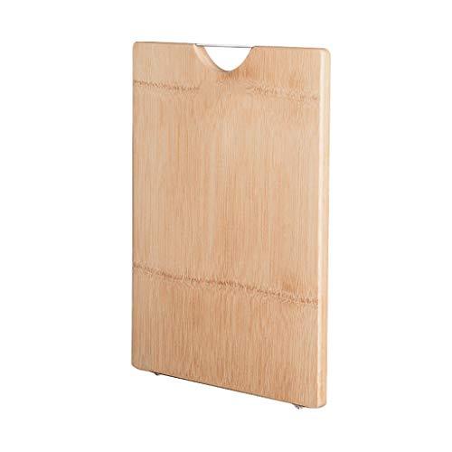 Tabla de Cortar Bambú cortes for juntas de cocina con soporte de pie con almohadilla de silicona antideslizante y empuñadura de mango del diseño del acero inoxidable for no Tablas de Cortar Cocina