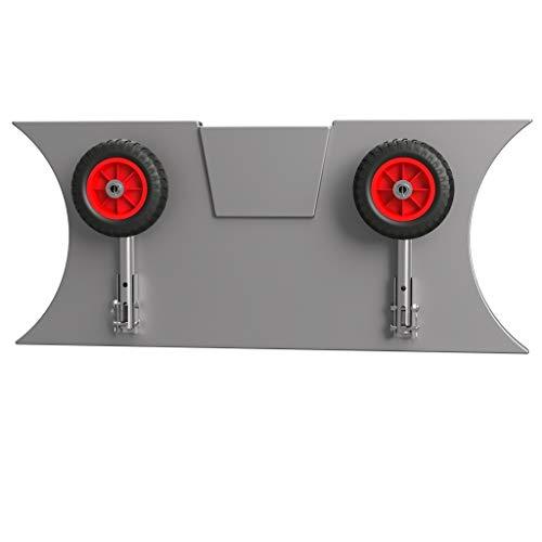 SUPROD Slipräder, Heckräder, für KLEINE Schlauchboote, LD160, Edelstahl, schwarz/rot