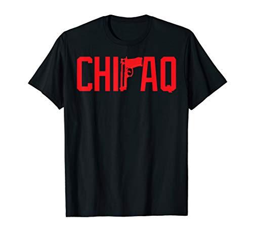 Mens CaliDesign ChIraq T-shirt Chicago Windy city Chitown Gun