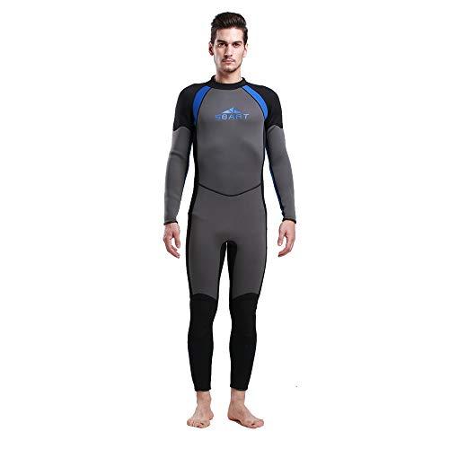 HONGSHENG1 3Mm Gummi Taucheranzug Für Männer Und Frauen Warme Winter Schwimmen Langarm Badeanzug Verdickung,Male,XL