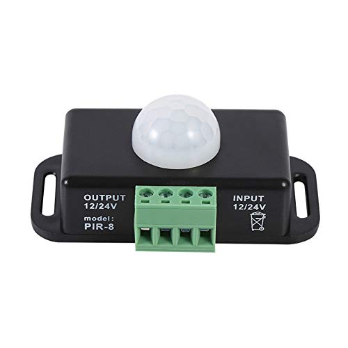 Tookss 12 V/24 V menschlicher Körper Bewegungsmelder Schalter Controller für LED Lichtleiste schwarz