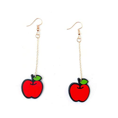 LeftSuper Earrings Spring And Summer Creative Fun Fruit Earrings Short Ins Style Small Fragrance Ladies Earrings