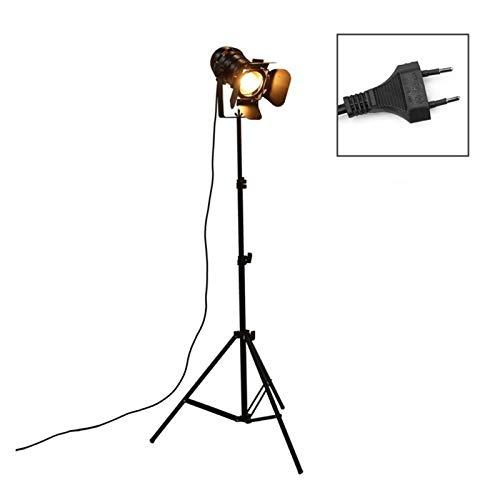 YSVSPRF Floor Lamp Industrial Bar Creative Studio Retro Tripod Black Floor Lamp Lights Room Light Stand Ceiling lighting (Lampshade Color : EU)