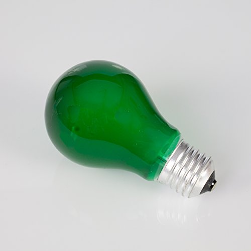 showking Farbleuchtmittel A19 230V / 40W / Sockel E - 27 / grün/Partybeleuchtung - farbige Glühbirne
