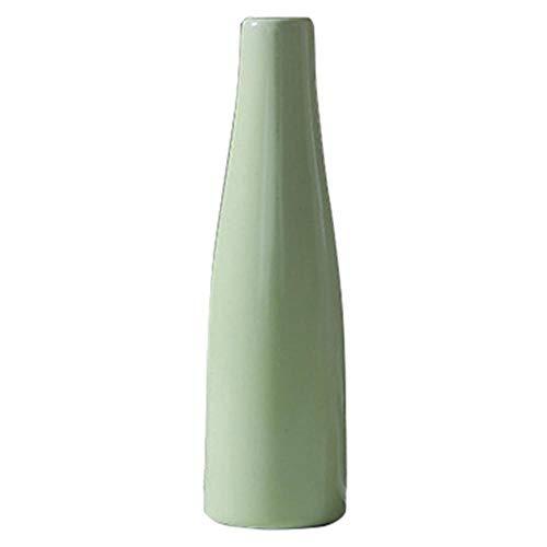 Eenvoudige bloem hydrocultuur kleine bloemenvaas Creatieve keramische vaas fles decoratie vazen voor decor, groen