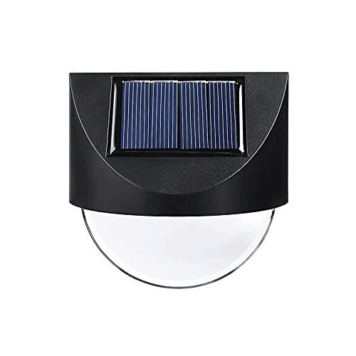 Lámpara de pared solar con interruptor, cuerpo de la lámpara ABS + pantalla de acrílico lámparas de apliques, accesorios impermeables IP65, apliques negros para cabaña, patio, jardín
