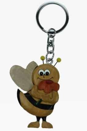 Biene Honigbiene Wespe Hummel Schlüsselanhänger aus Holz