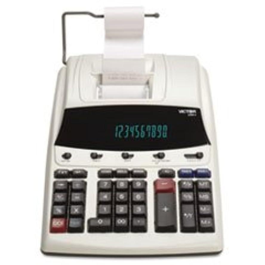 宇宙船複雑でないソーシャル1230?–?4蛍光表示印刷電卓、ブラック/レッド印刷、3線/ sec by : Victor