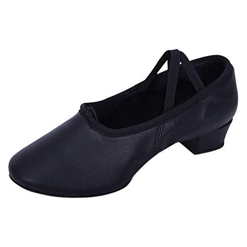 Zapatos de Baile Moda Practica Suela Suave 2019 Profesor Salsa ensayo Tacon bajo Blanda