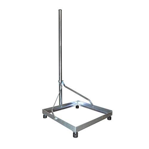 PremiumX Balkonständer Flachdachhalterung Alu 50x50cm Mast 1m Flachdachständer Halter für Satelliten Schüssel Sat Antenne zerlegbar & stabil