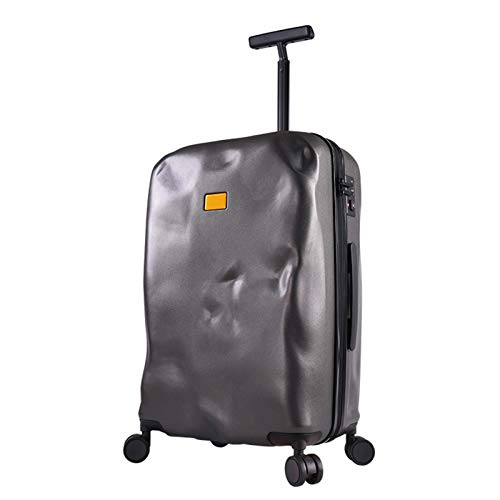 Adlereyire Trolley Suitcase Lightweight Durable Carry On Cabin Hand Luggage Set, Travel Bag with 4 Wheels (Color : Gray, Size : 41 * 25 * 65cm)