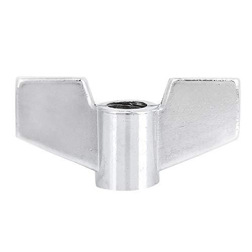 Zinklegering muziekinstrument accessoires 8mm drum vleugel moer verzinkt bevestigingsmiddelen onderdelen moer zilver toon