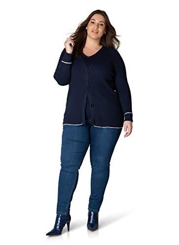Vest Hilly 72 cm Yesta maat:48 kleur Washed Blue-Ecru