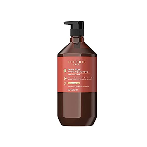 THEORIE Amber Rose Hydrating Shampoo- Refresh & Hydrate, Irresistible Scent of Rose, Jasmine & Amber, Suited For All Hair Types-Color & Keratin Treated Hair, 800ML