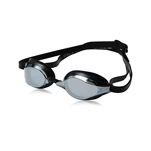 Speedo Speed Socket 2.0 Mirrored Swim Goggles, Black/Silver, One Size