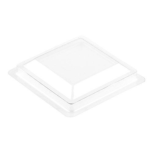 Mini Kova Dessert Tumbler, Dessert Cup Lid - Square - Clear - Plastic Lid - Disposable - 100ct Box - Restaurantware