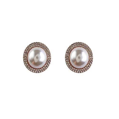 Simple Big Pearl Stud Earring Elegant Pearl Large Stud Earrings Fashion Jewelry for Women Party Earring