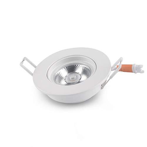 FomTai 6W/8W/10W Incrustado Ultrafino LED COB Downlight Anti-Glare Sala De Estar Spotlight Ángulo Ajustable Luz De Techo Inicio Business Empotrado De Iluminación (Color : 2700K, Size : 10W)