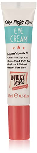 Dirty Works Stop Puffy Eyes Perfecting Eye Cream - Boosted with a Proven Eye Tightening Peptide, Stimulating Caffeine to Improve Circulation and Light Reflectors to Help Brighten Dark Circles