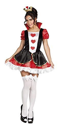 Boland–Reina De Corazones Disfraz Mujer Womens, rojo/negro/blanco, M, 83857