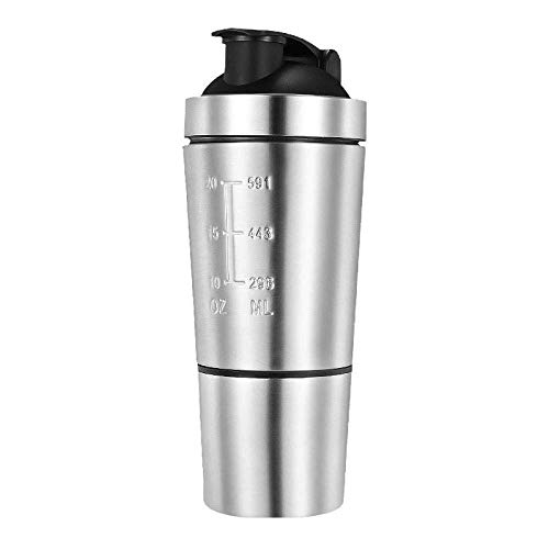 Yumin-HZ Creative wine set Detachable 304 Stainless Steel Whey Protein Powder Sports Shaker Bottle for Water Bottles Gym Nutrition Blender Cup Mixer