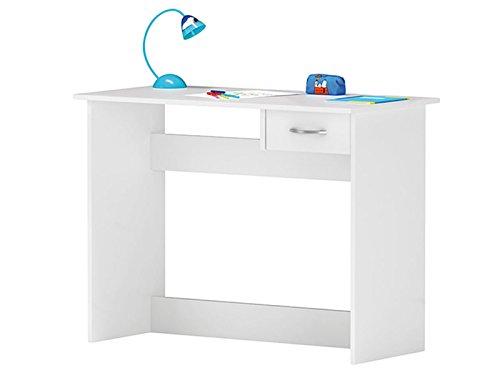 möbelando Kinderschreibtisch Schülerschreibtisch Jugenschreibtisch Schreibtisch Kid (Weiß)