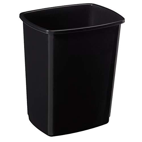 Corps de poubelle plastique Clap basculant - 50l - noir