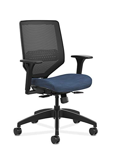 HON HONSVM1ALC90TK Solve Mid Task Chair with Mesh Back and Adjustable Lumbar Support, in Midnight (HSLVTMMKD), Black