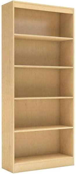 5 Shelf Bookcase Multiple Finishes 5 Open Storage Spaces Home Furniture Shelving Bookshelf Office Furniture Contemporary Style Functional Shelves Living Room Set Bonus E Book Natural Maple