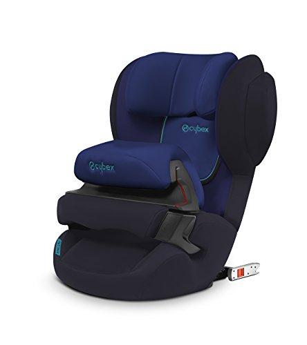 CYBEX Silver Kinder-Autositz Juno 2-Fix, Für Autos mit ISOFIX, Autositz Gruppe 1 (9-18 kg), Blue Moon