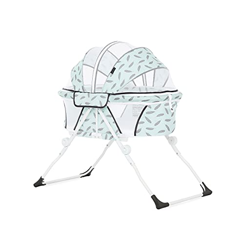 Dream On Me Karley Plus Portable Bassinet in Ice Blue