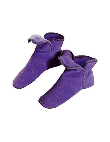RAIKOU Hausschuhe für Damen, Herren aus Micro Fleece mit ABS und Rutschfester Sohle Größe,Super Flauschige Hüttenschuche (37-40, Hell Lila)