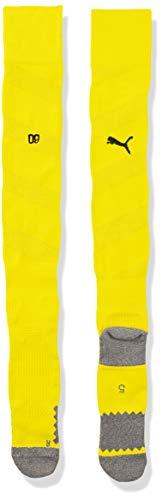 PUMA Herren Team BVB Spiral Socks Stutzen, Cyber Yellow Black, 3