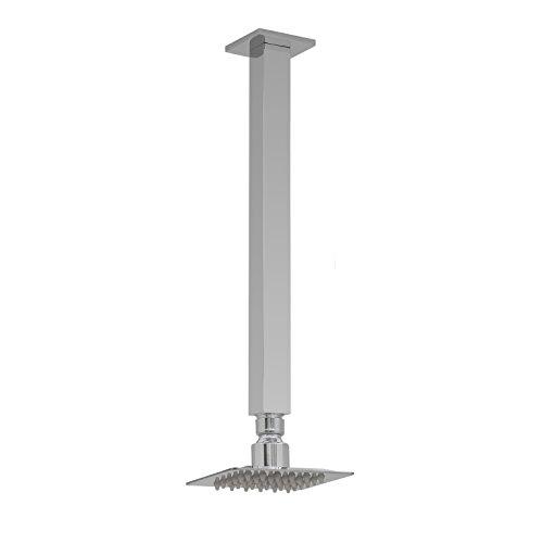 ENKI kleine douchekop roestvrij staal vierkant 100 mm plafondmontage douchearm rechthoekig