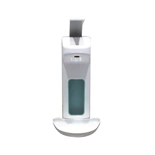 Btruely Spender Kunststoff für Desinfektionsmittel oder Seife mit Schale,Wandspender 500ML Seifenspender Desinfektionsspender Kunststoffpumpe für Küche, Bad, WC