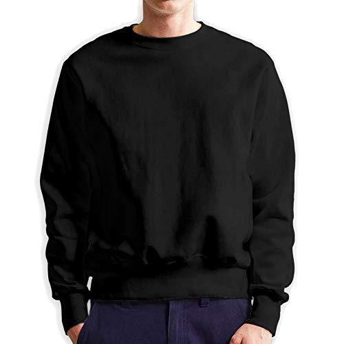 Mrscsefid Trippy Alien Man Big Logo Crewneck Sweater Comfortable Black
