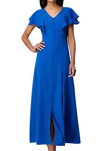 Tahari Womens Blue V Neck Maxi Sheath Wear to Work Dress UK Size:10