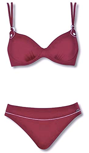 Sunflair Damen Bikini-Set Red Grip (weinrot, 42F)