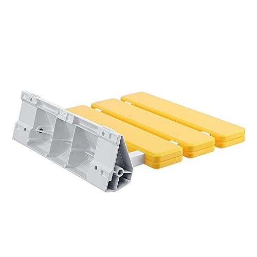 Silla de baño Silla de relajación duradera Baño plegable asientos de ducha montados en la pared Silla de plástico Taburete Banco de inodoro for ducha (Color : Yellow)
