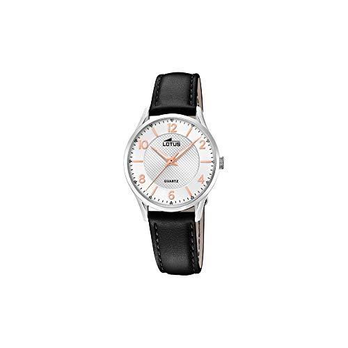 Lotus Damen Analog Quarz Uhr mit Leder Armband 18406/A