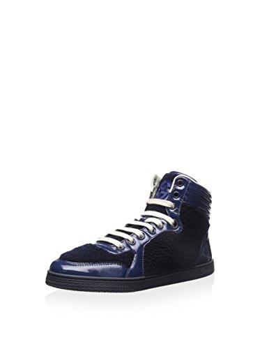 Gucci Damen Hightop Sneaker, (blau/Marineblau), 40 EU